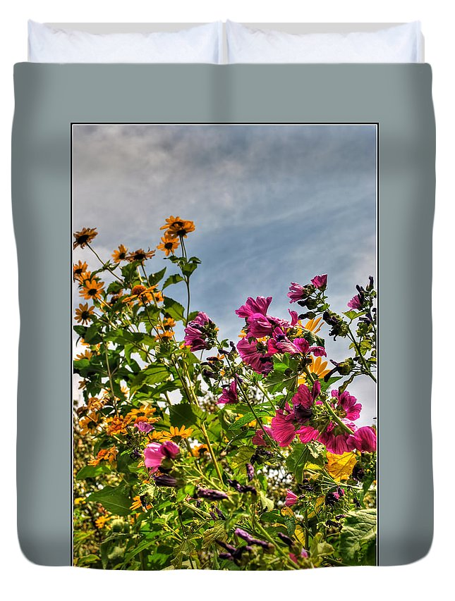 Duvet Cover featuring the photograph 004 Summer Air Series by Michael Frank Jr