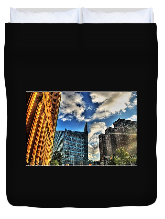 Duvet Cover featuring the photograph 005 Wakening Architectural Dynamics by Michael Frank Jr