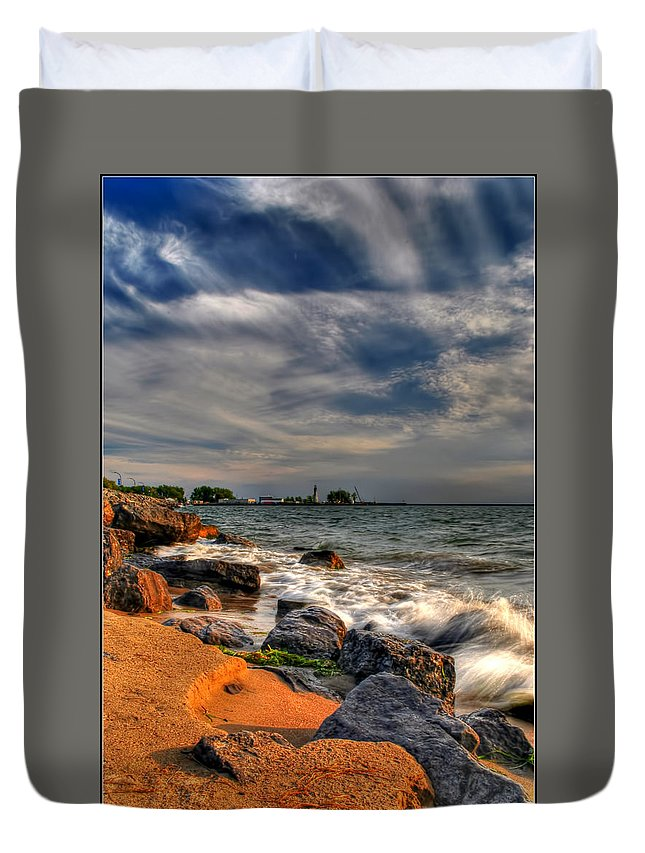 Duvet Cover featuring the photograph 007 In Harmony With Nature Series by Michael Frank Jr