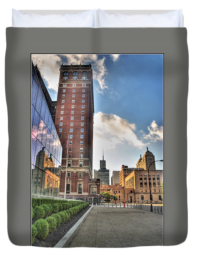 Duvet Cover featuring the photograph 007 Wakening Architectural Dynamics by Michael Frank Jr