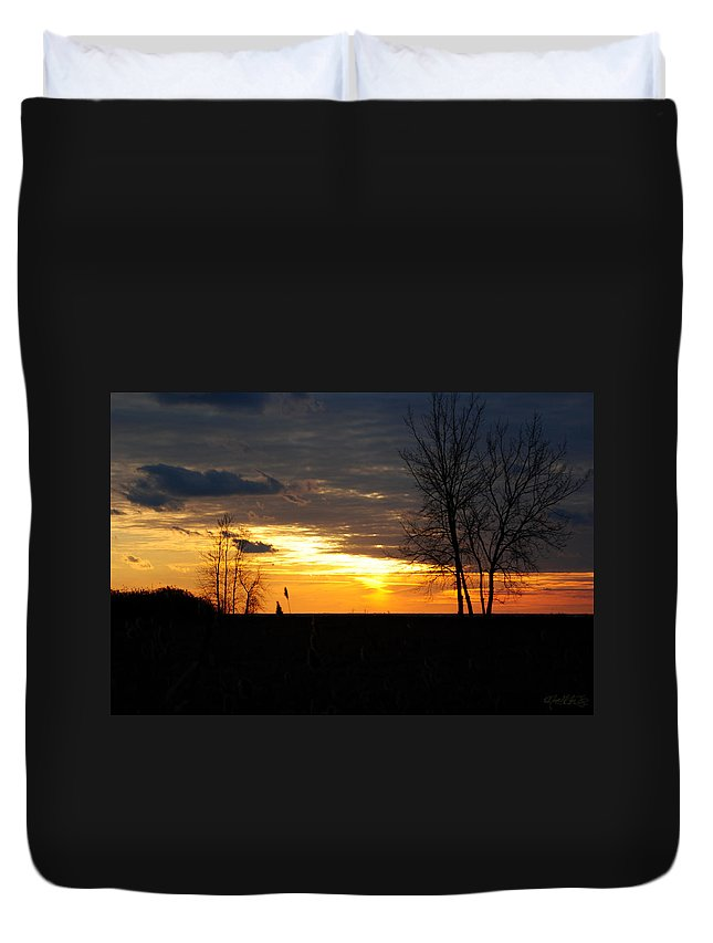 Duvet Cover featuring the photograph 01 Sunset by Michael Frank Jr