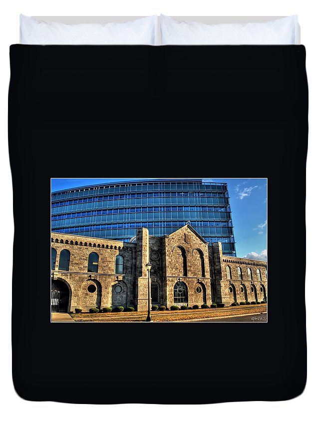 Duvet Cover featuring the photograph 012 Wakening Architectural Dynamics by Michael Frank Jr