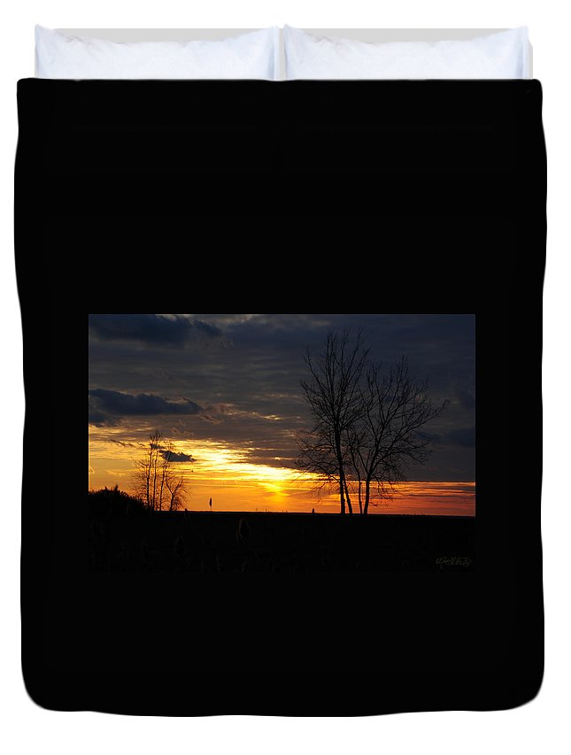 Duvet Cover featuring the photograph 02 Sunset by Michael Frank Jr