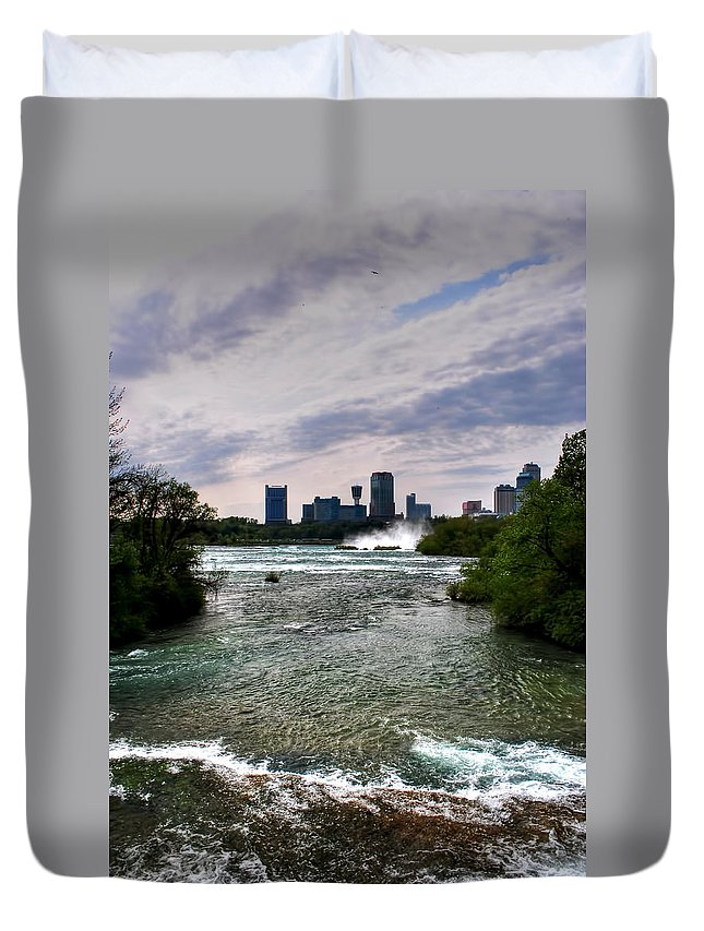 Duvet Cover featuring the photograph 03 Three Sisters Island by Michael Frank Jr