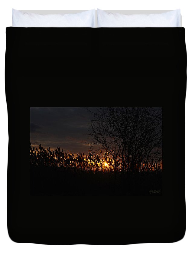 Duvet Cover featuring the photograph 04 Sunset by Michael Frank Jr