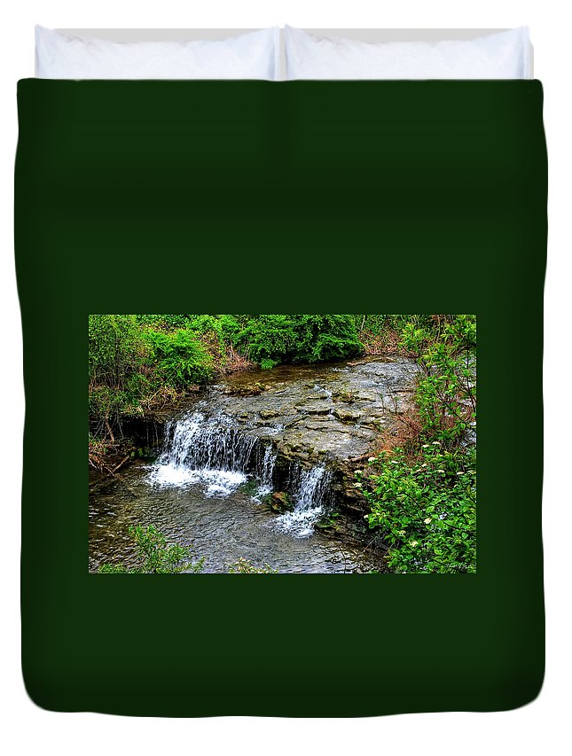 Duvet Cover featuring the photograph 06 Three Sisters Island by Michael Frank Jr