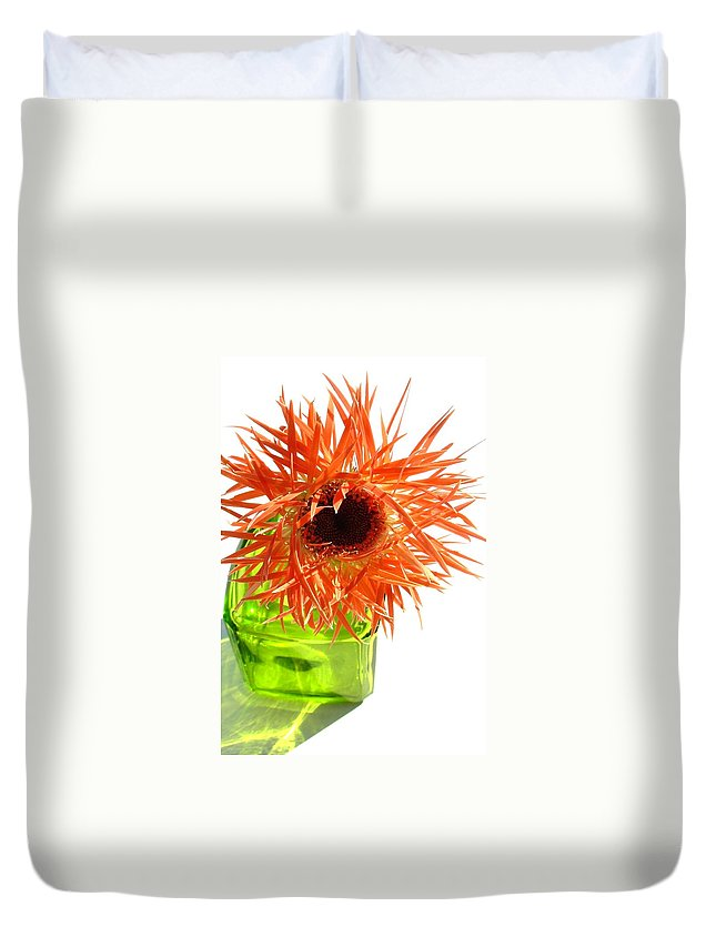 Gerbera Photographs Duvet Cover featuring the photograph 0690c-002 by Kimberlie Gerner