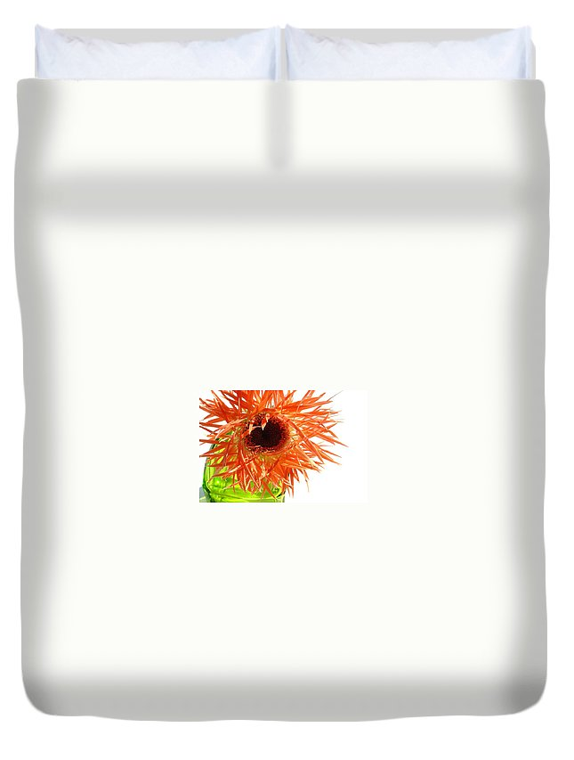 Gerbera Photographs Duvet Cover featuring the photograph 0690c-006 by Kimberlie Gerner
