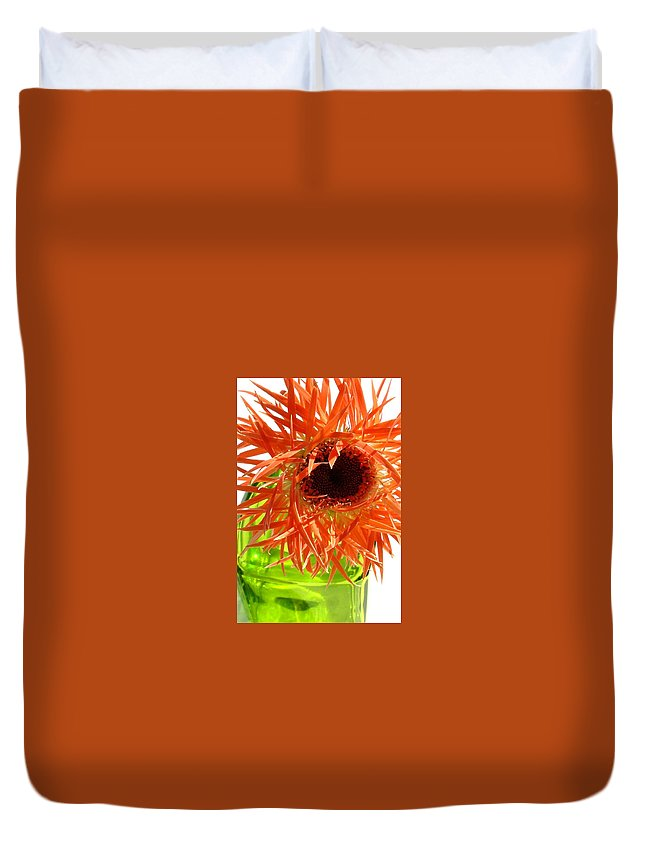 Gerbera Photographs Duvet Cover featuring the photograph 0690c-014 by Kimberlie Gerner