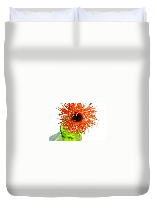 Gerbera Photographs Duvet Cover featuring the photograph 0690c-018 by Kimberlie Gerner