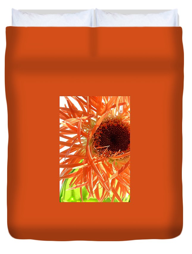 Gerbera Photographs Duvet Cover featuring the photograph 0692c-006 by Kimberlie Gerner