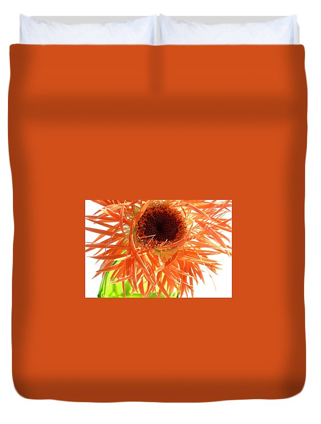 Gerbera Photographs Duvet Cover featuring the photograph 0692c-009 by Kimberlie Gerner