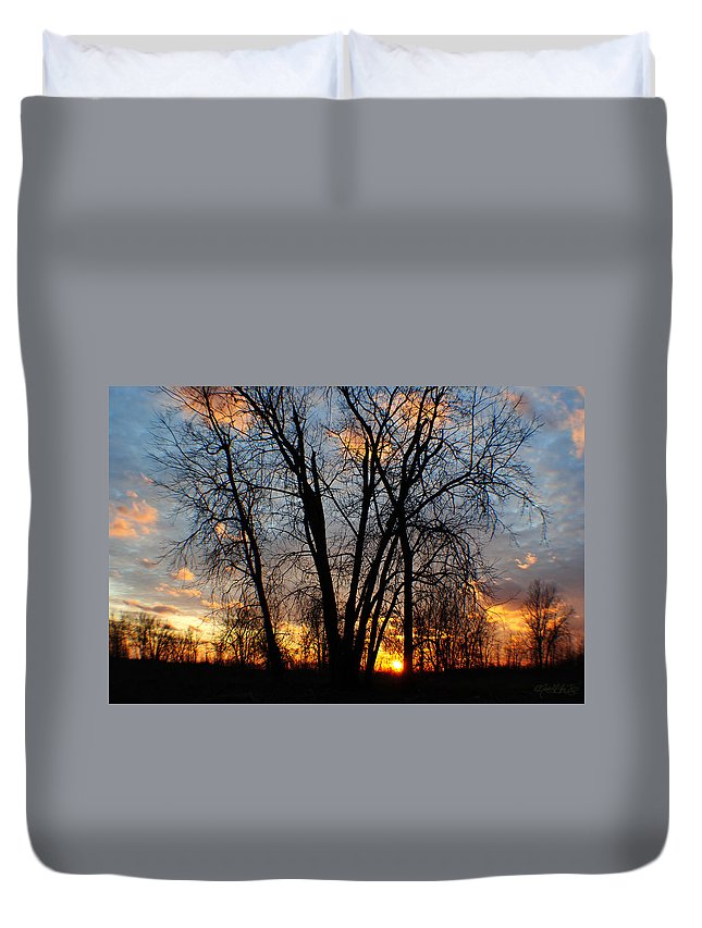 Duvet Cover featuring the photograph 07 Sunset by Michael Frank Jr
