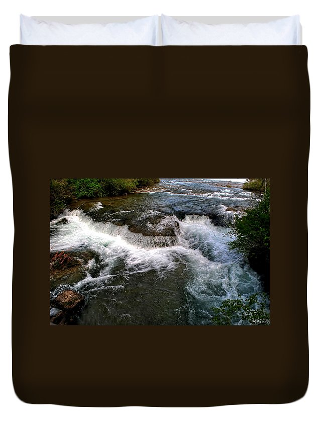 Duvet Cover featuring the photograph 07 To The Three Sisters Island by Michael Frank Jr