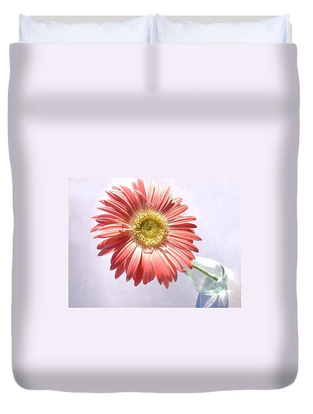 Gerbera Photographs Duvet Cover featuring the photograph 0702c1 by Kimberlie Gerner