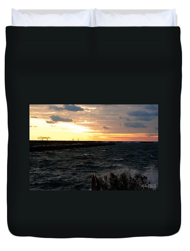 Duvet Cover featuring the photograph 08 Sunset by Michael Frank Jr