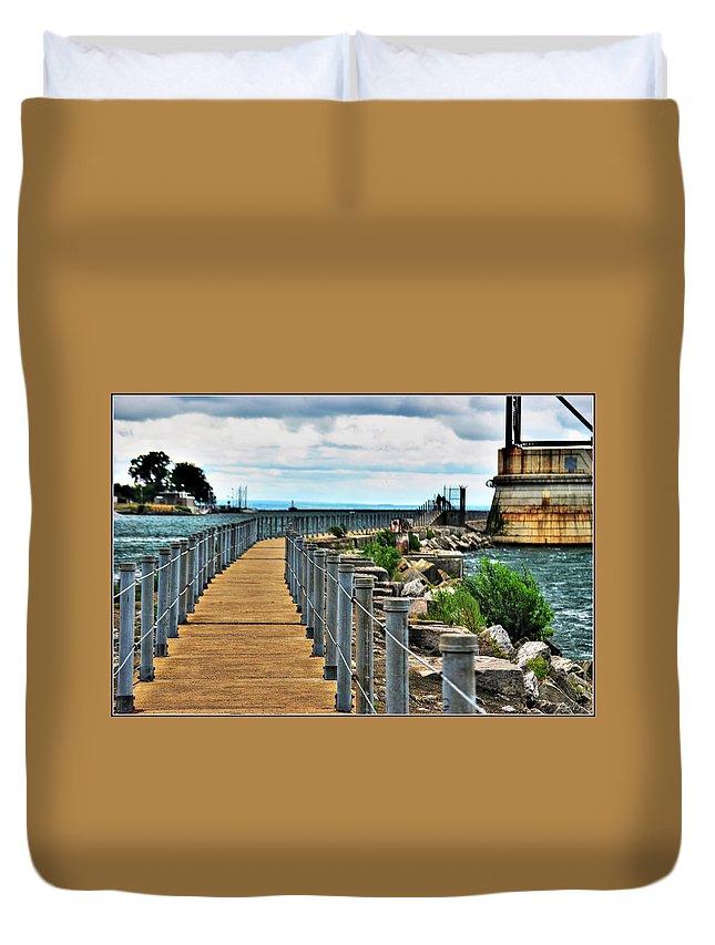 Duvet Cover featuring the photograph 001 Peace Bridge Series by Michael Frank Jr
