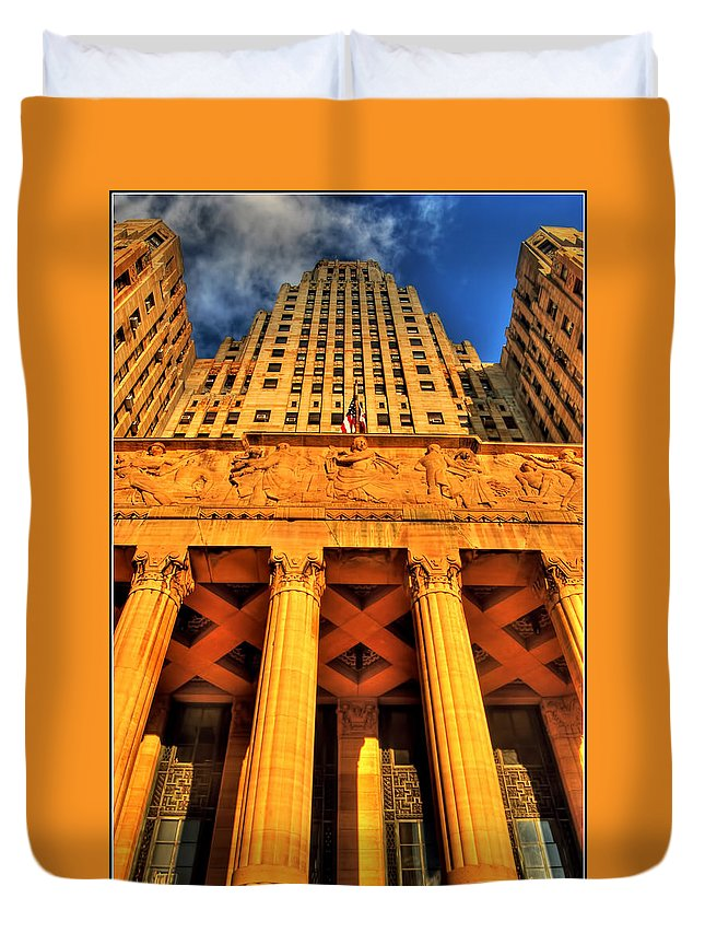 Duvet Cover featuring the photograph 006 Wakening Architectural Dynamics by Michael Frank Jr