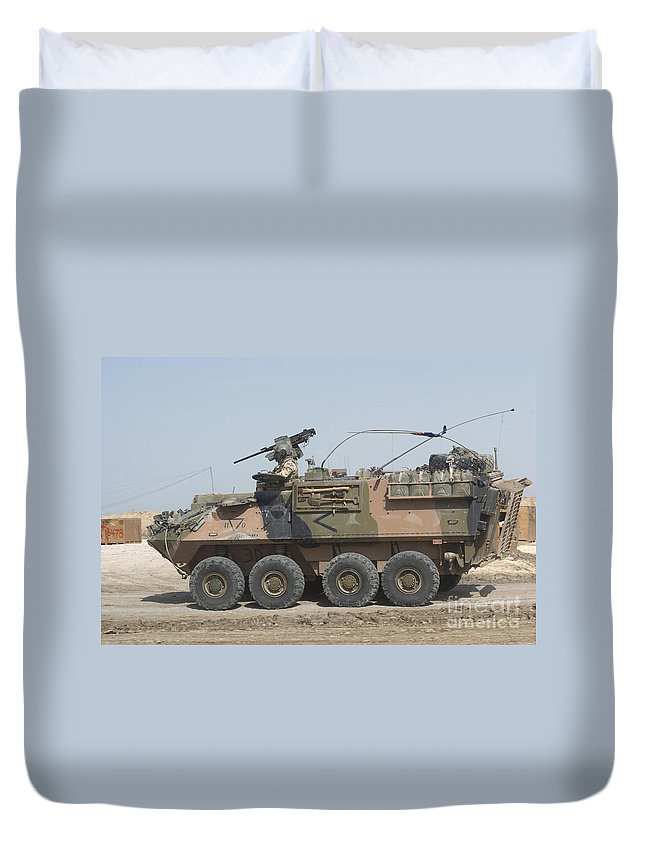 Light Armored Vehicles Duvet Cover featuring the photograph A Lav IIi Infantry Fighting Vehicle by Andrew Chittock