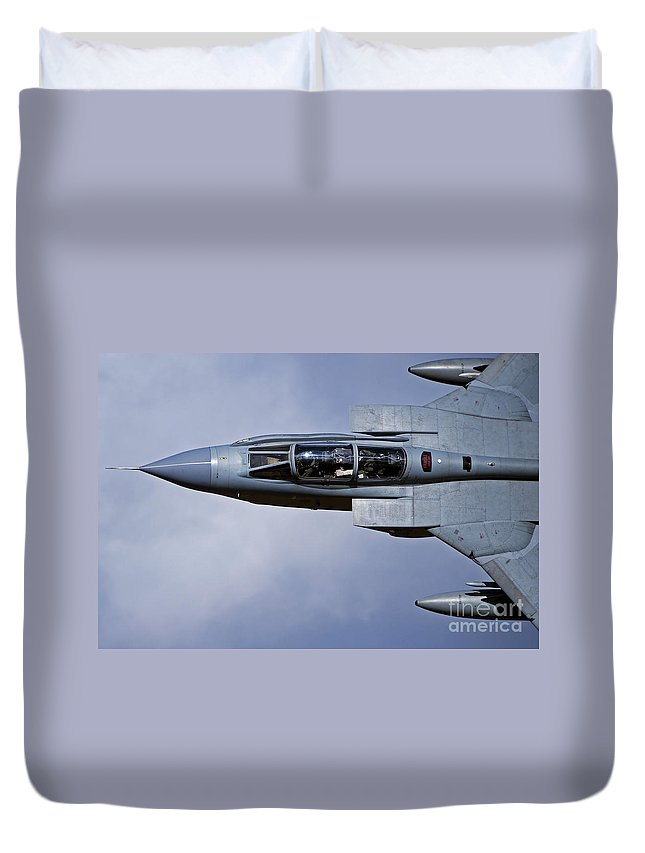 Royal Air Force Duvet Cover featuring the photograph A Royal Air Force Tornado Gr4 by Andrew Chittock
