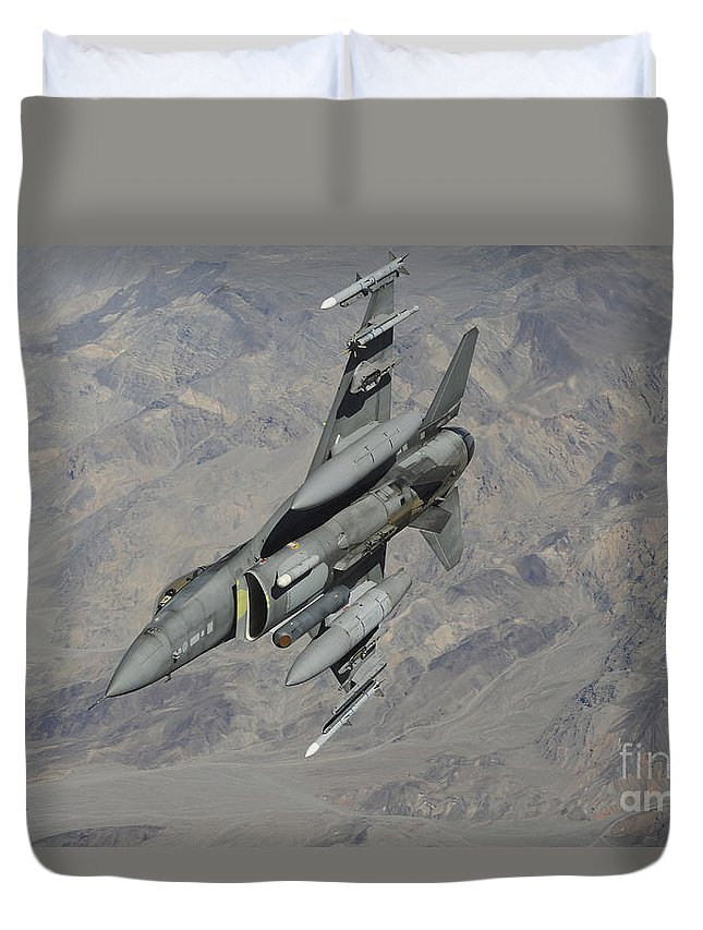 F-16 Duvet Cover featuring the photograph A U.s. Air Force F-16 Fighting Falcon by Stocktrek Images