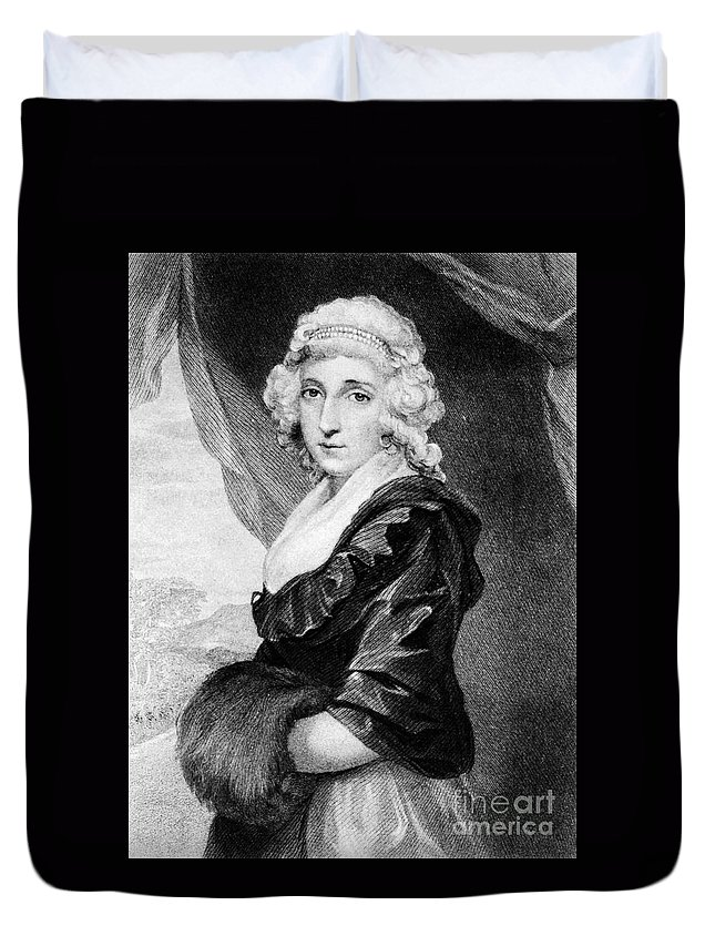 18th Century Duvet Cover featuring the photograph Abigail Adams (1744-1818) by Granger