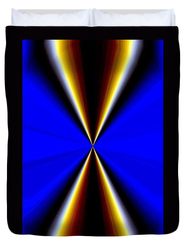 Abstract Fusion Duvet Cover featuring the digital art Abstract Fusion 60 by Will Borden