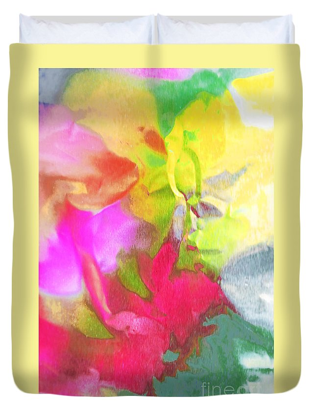 Abstract Photography Duvet Cover featuring the photograph Abstract Garden Impressions by Regina Geoghan