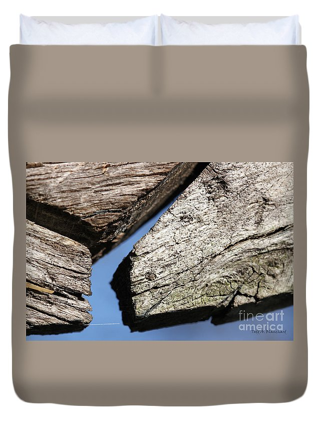 Abstract Duvet Cover featuring the photograph Abstract With Angles by Todd Blanchard