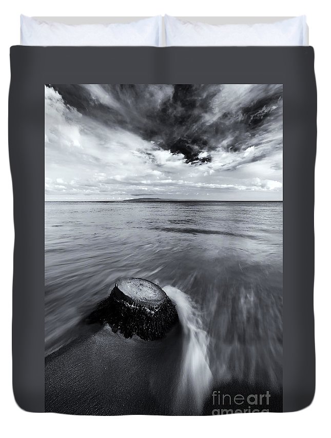 Beach Duvet Cover featuring the photograph Against The Tides by Mike Dawson
