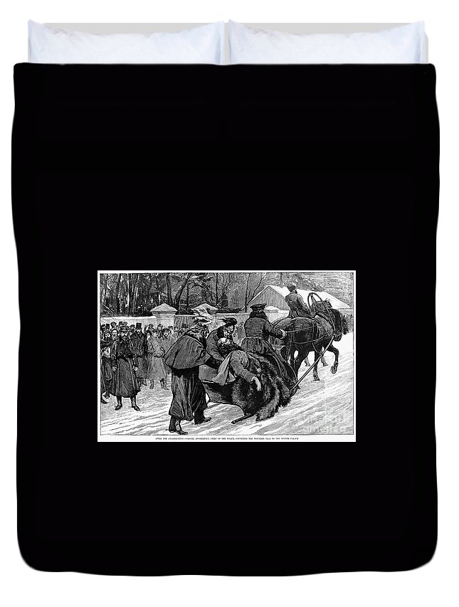 1881 Duvet Cover featuring the photograph Alexander II (1818-1881) by Granger