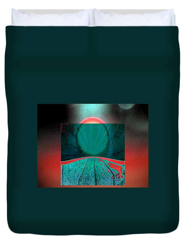 Abstract Duvet Cover featuring the digital art All Roads Lead by Lenore Senior