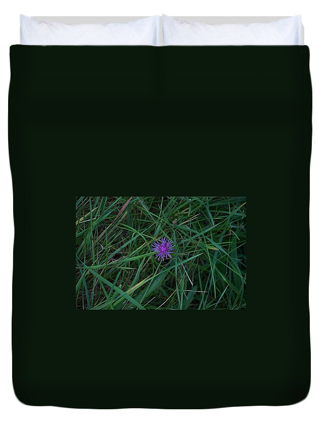 Bni Duvet Cover featuring the photograph Alone by Joseph Yarbrough