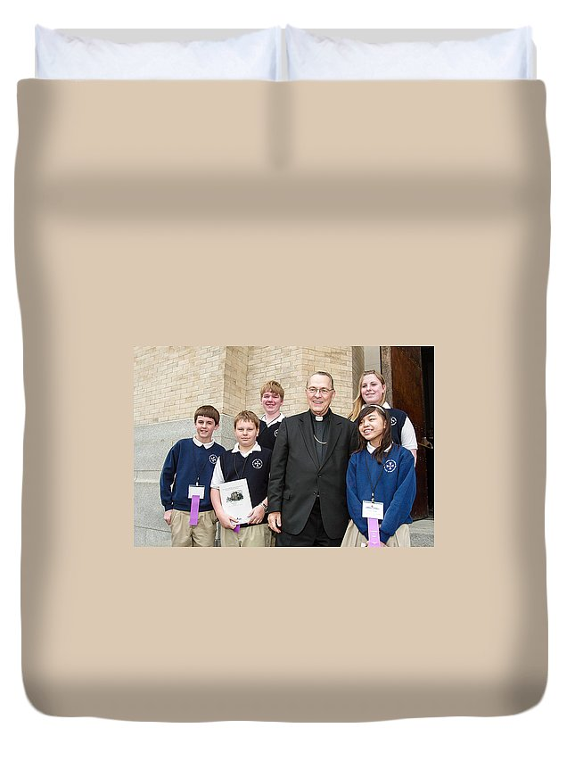 Archbishop Brunett Duvet Cover featuring the photograph Archbishop Alex Brunett by Mike Penney