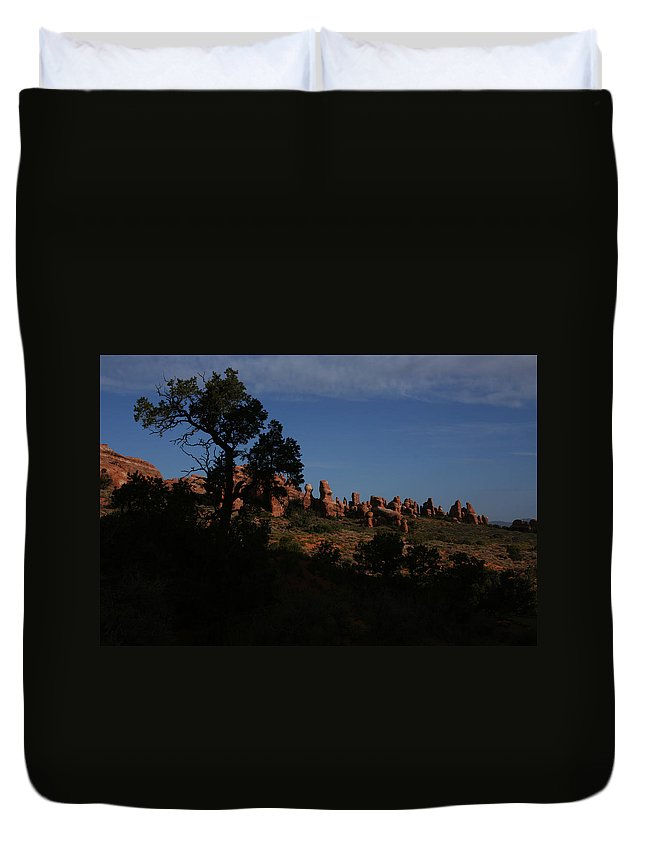 Arches Duvet Cover featuring the photograph Arches National Park by Benjamin Dahl