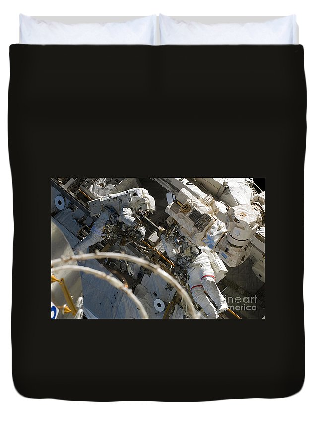 Adults Only Duvet Cover featuring the photograph Astronauts Participate by Stocktrek Images