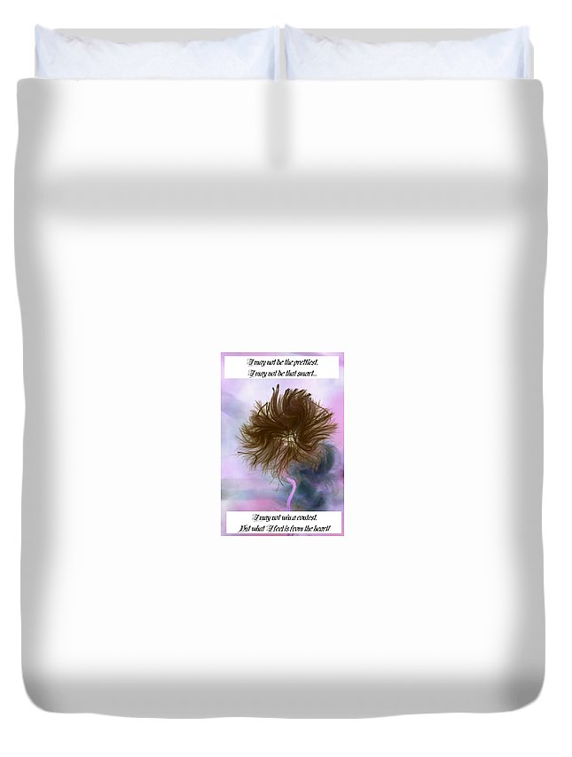 Duvet Cover featuring the photograph Bad Day by Barbara S Nickerson