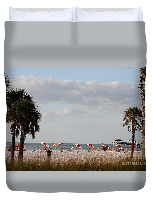 Beach Duvet Cover featuring the photograph Beach Life by Christiane Schulze Art And Photography