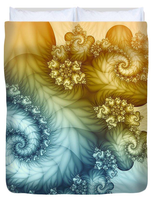 Fractal Duvet Cover featuring the digital art Beyond The Horizon by Jutta Maria Pusl