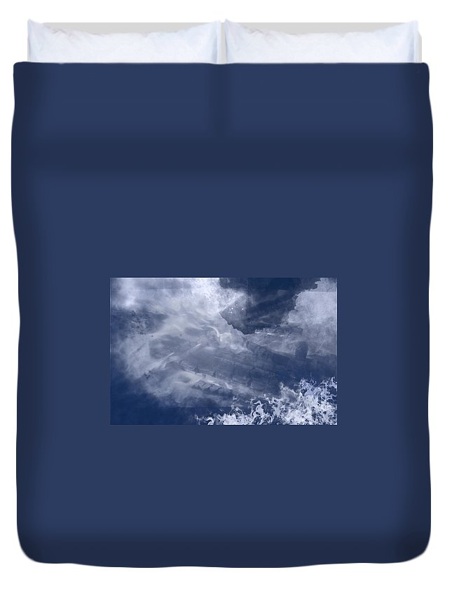 Birth Duvet Cover featuring the painting Birth Of A Dream by Christopher Gaston