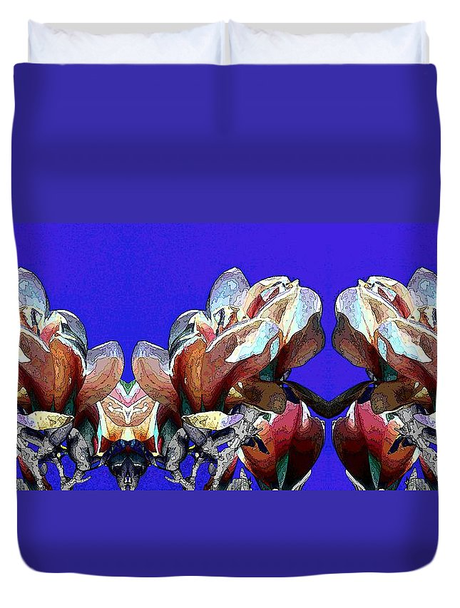 Bloomers Duvet Cover featuring the digital art Bloomers by Tim Allen