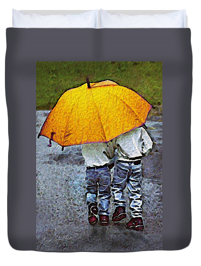 Brother Duvet Cover featuring the photograph Brotherly Love by Maggie Magee Molino