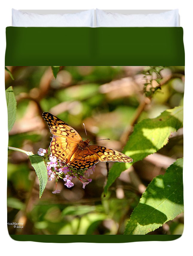 Butterfly Duvet Cover featuring the photograph Butterfly by Ericamaxine Price