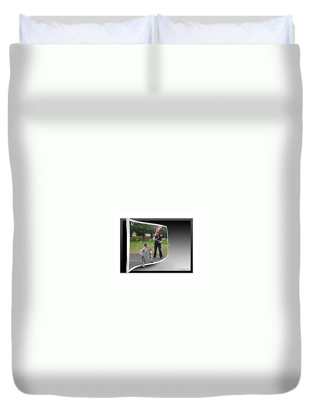 2d Duvet Cover featuring the photograph Chasing Bubbles by Brian Wallace