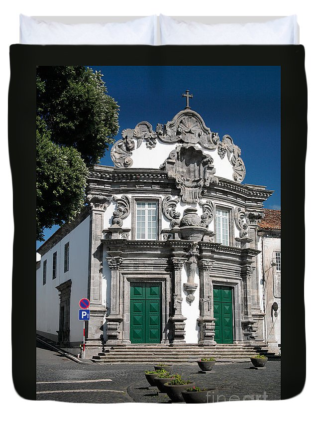 Church Duvet Cover featuring the photograph Church by Gaspar Avila