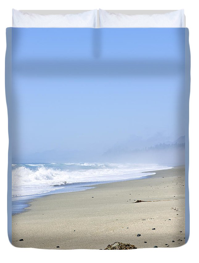 Pacific Duvet Cover featuring the photograph Coast Of Pacific Ocean In Canada by Elena Elisseeva