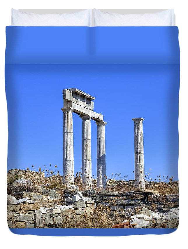 Delos Duvet Cover featuring the photograph Delos by Joana Kruse