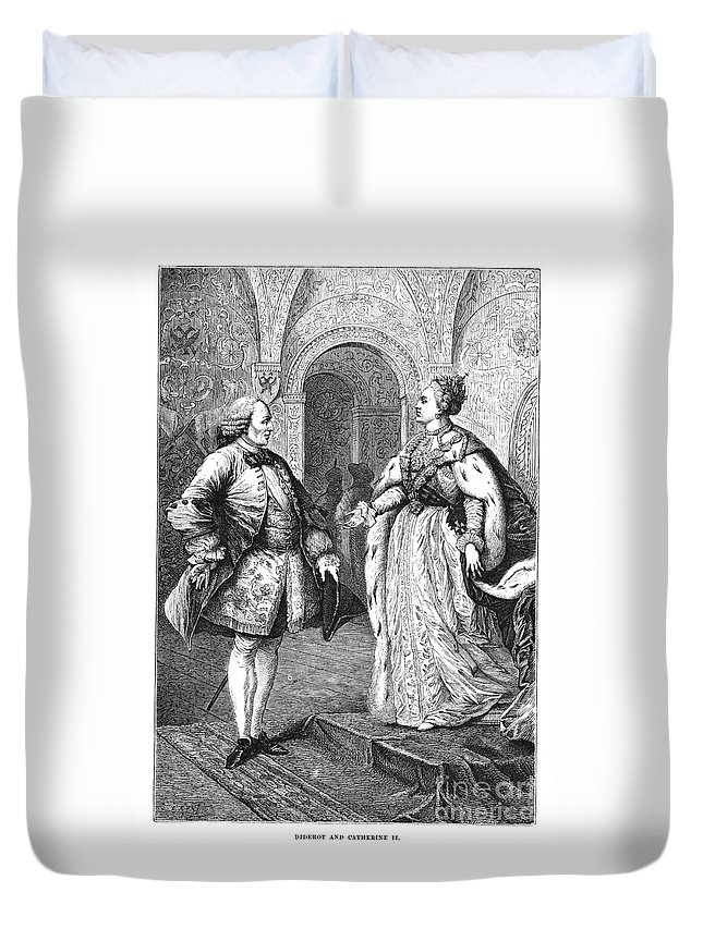 1773 Duvet Cover featuring the photograph Denis Diderot (1713-1784) by Granger