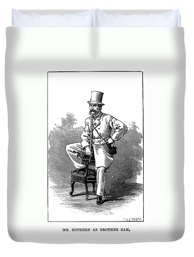 19th Century Duvet Cover featuring the photograph Edward Sothern (1826-1881) by Granger