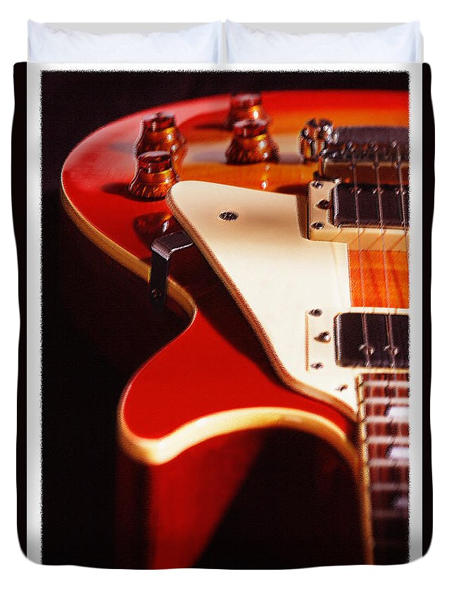 Vintage Guitar Duvet Cover featuring the photograph Electric Guitar I by Mike McGlothlen